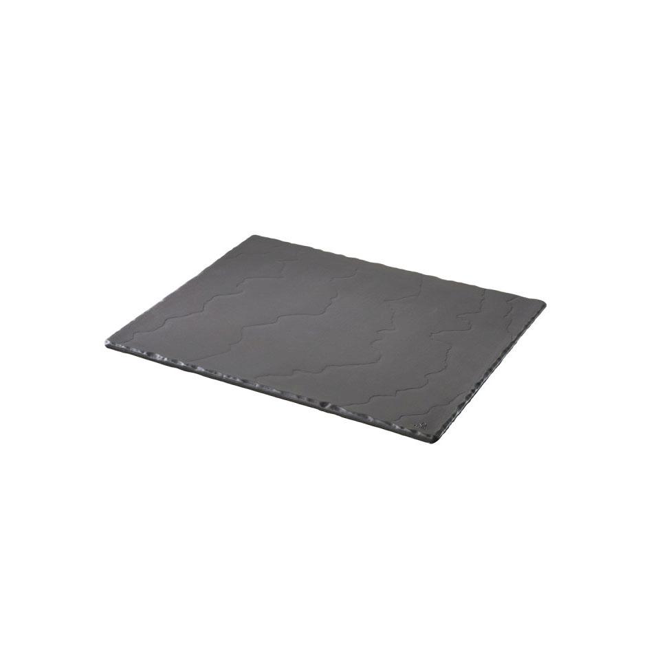 Vassoio rettangolare Basalt Revol in porcellana nera cm 32,5x26,5