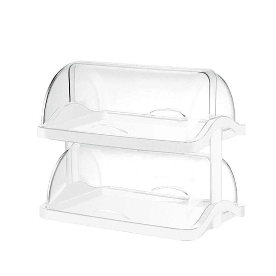 Vetrina Pasticcera doppia in plastica trasparente e bianca