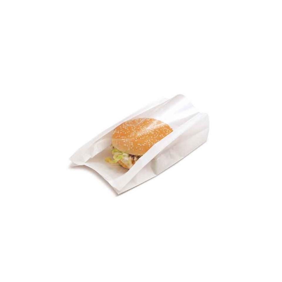 Sacchetti aperti con finestra Delicatessen in carta bianca cm 16x21