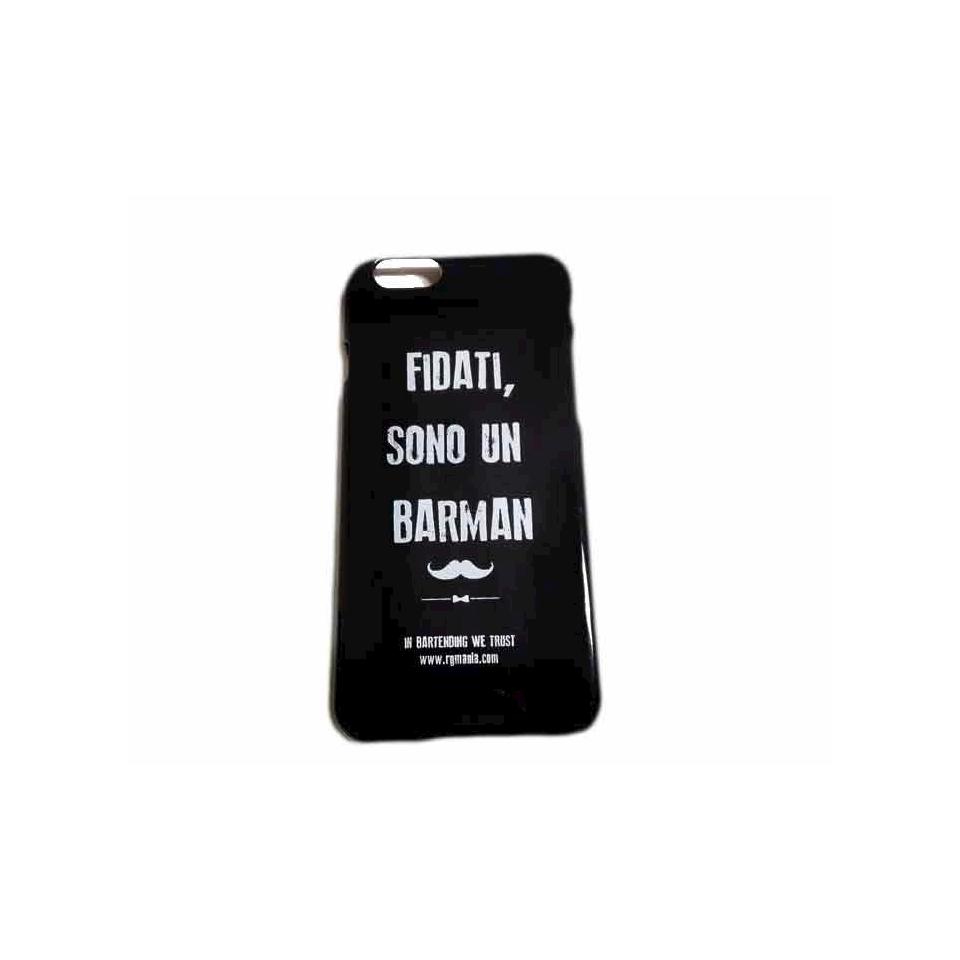 Cover I-Phone 6/7 ''Fidati sono un barman'' in plastica nera