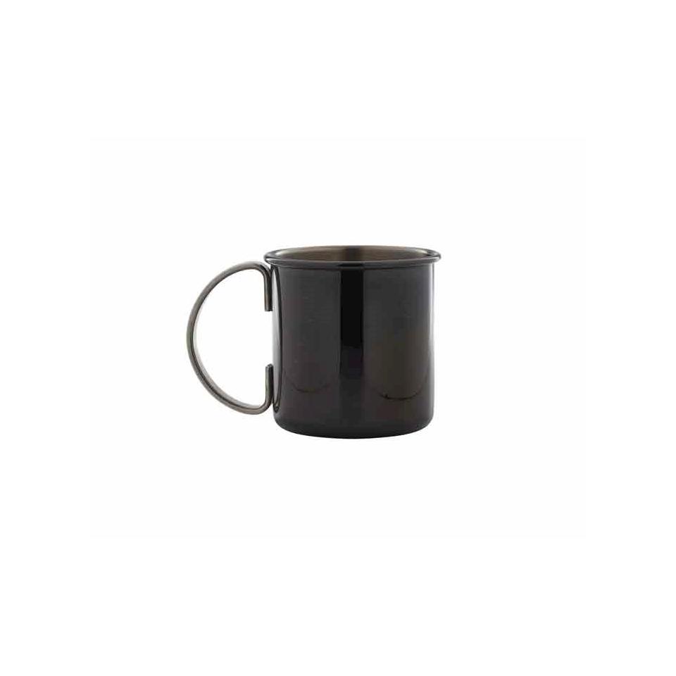Boccale Black in acciaio inox nero cl 50