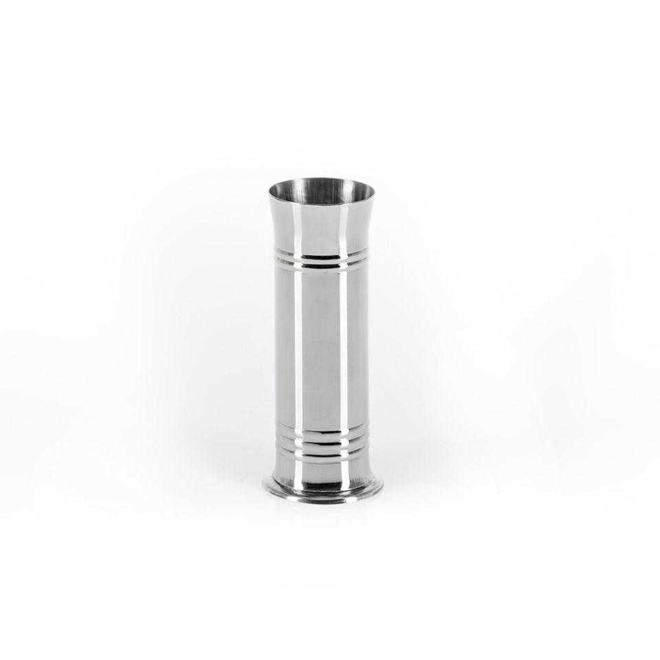 Porta cannucce in acciaio inox cm 16x5,5