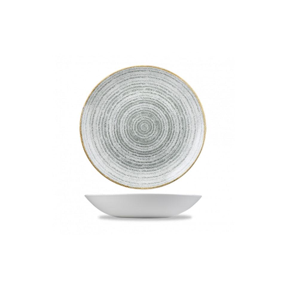 Coupe Studio Prints Homespun Churchill in ceramica vetrificata grigia cm 24,8