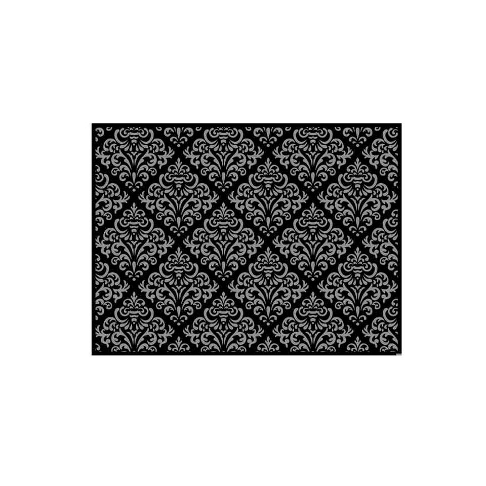Tovaglietta Damascata In Carta Nero E Argento Cm 30×40