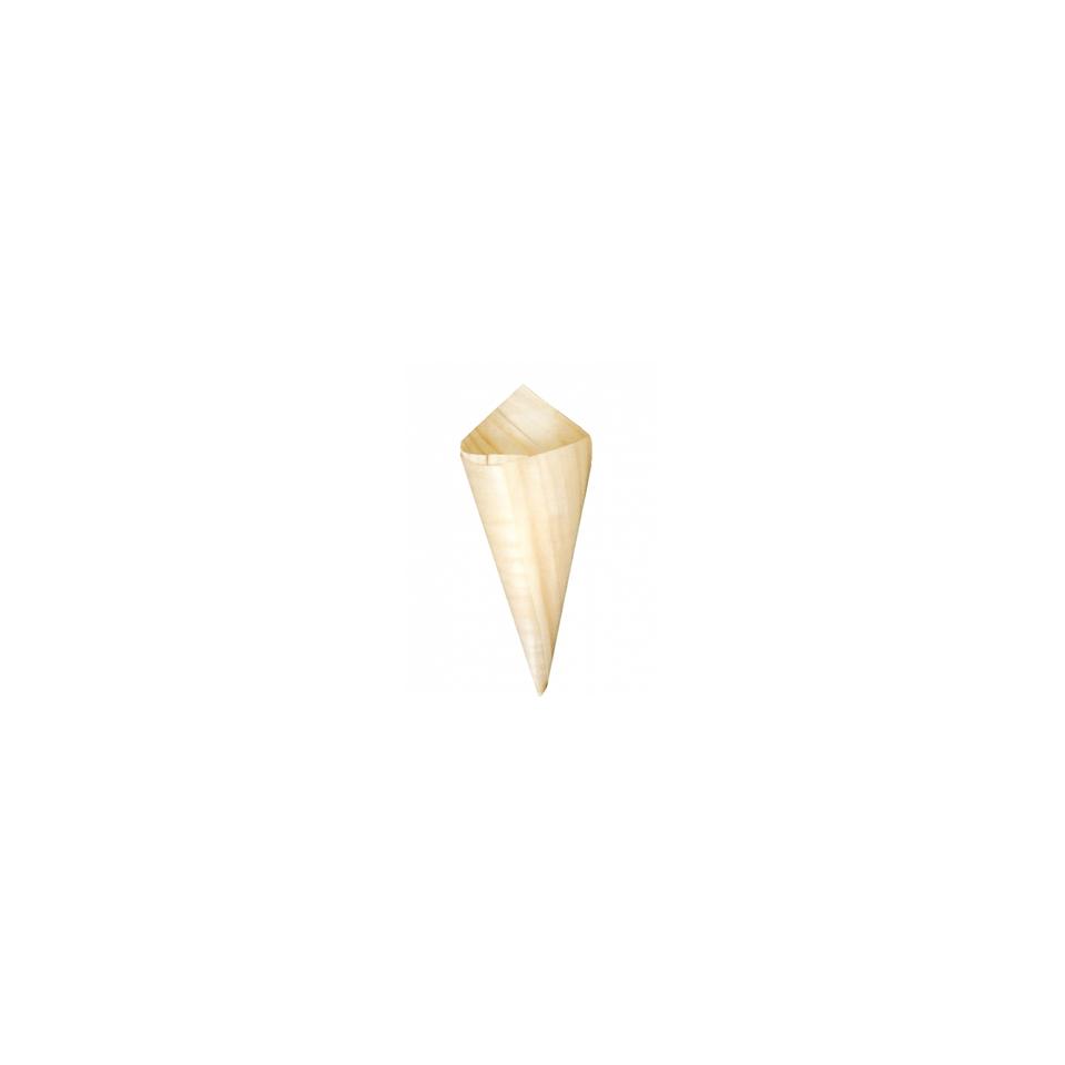 Mini coni monouso in legno naturale cm 8x3