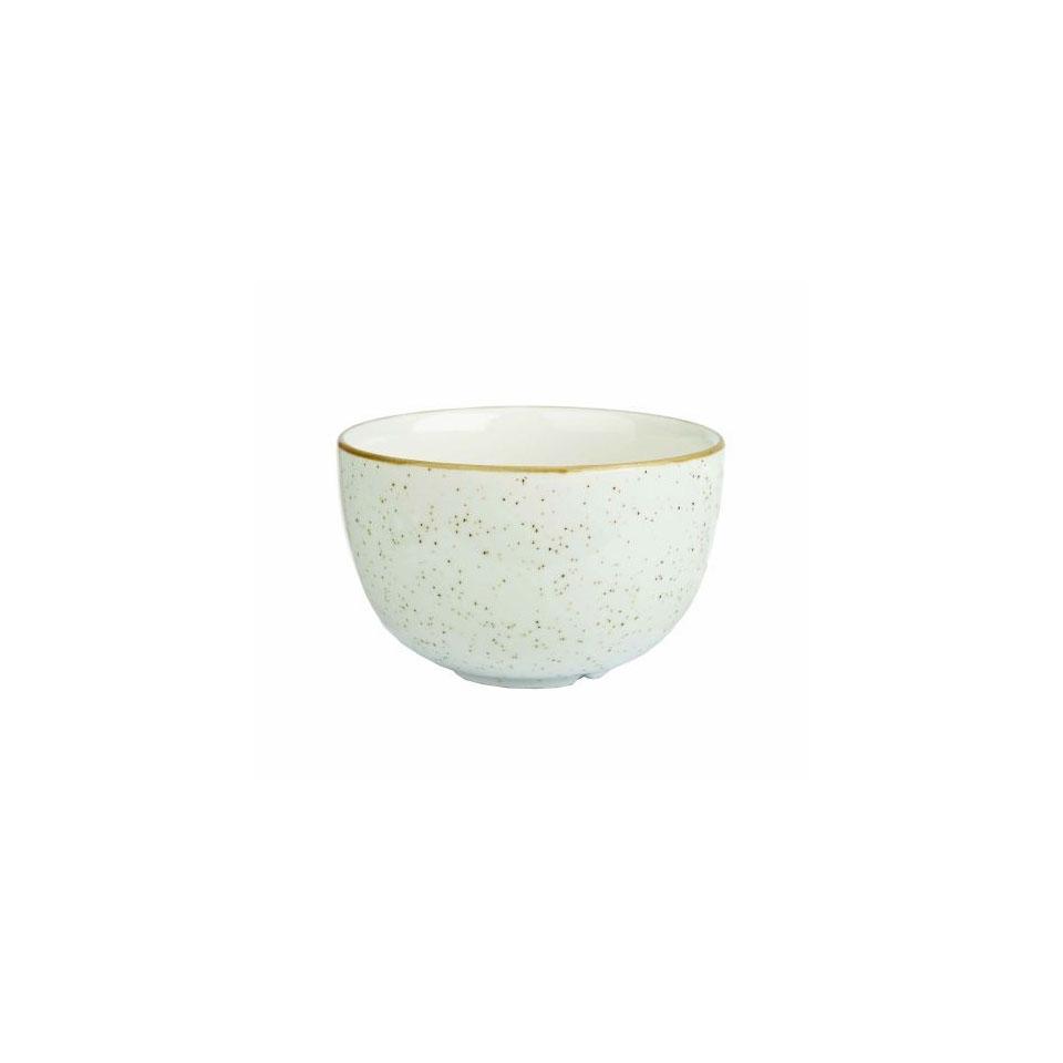 Coppetta Stonecast Churchill in ceramica vetrificata bianca Barley cl 22,7