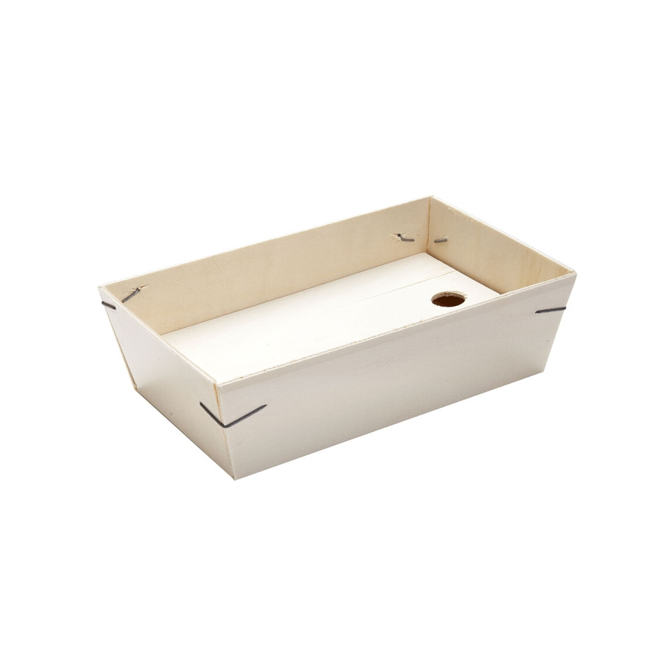 Contenitori doppio fondo 100% Chef in legno cm 21x13x6