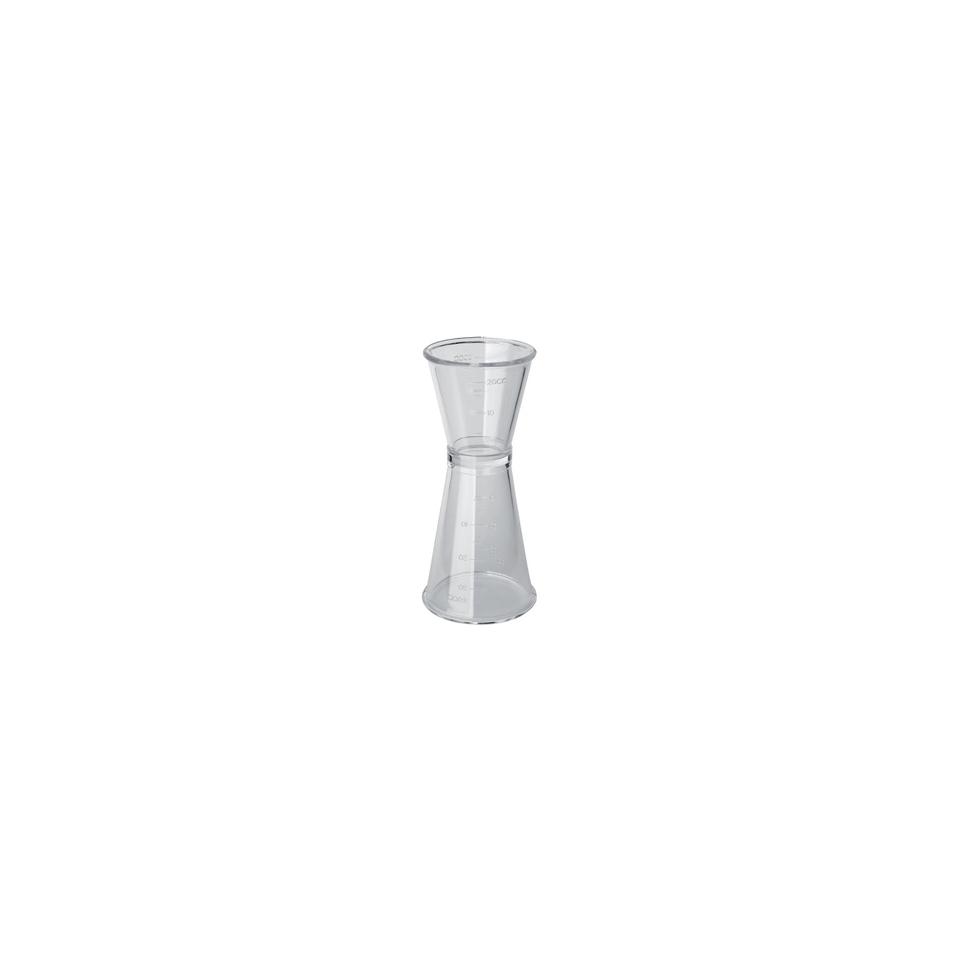 Jigger in plastica trasparente cl 2 e 4