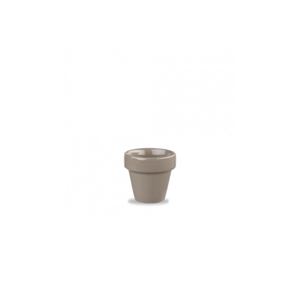 Vasetto Plant Pot Churchill in ceramica vetrificata grigia