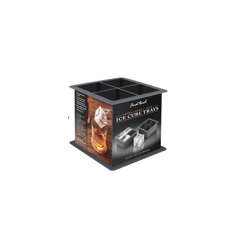 Stampi Ghiaccio XL in silicone nero cm 11x11x5