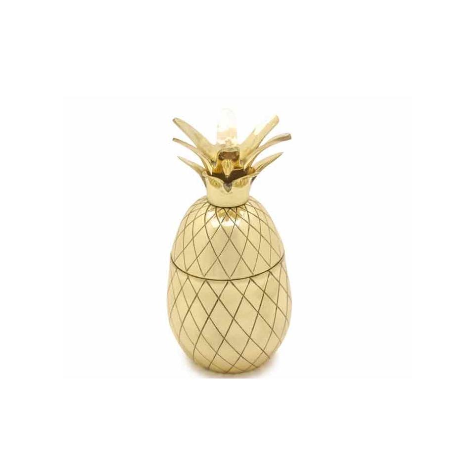 Ananas Pineapple in ottone dorato cl 53