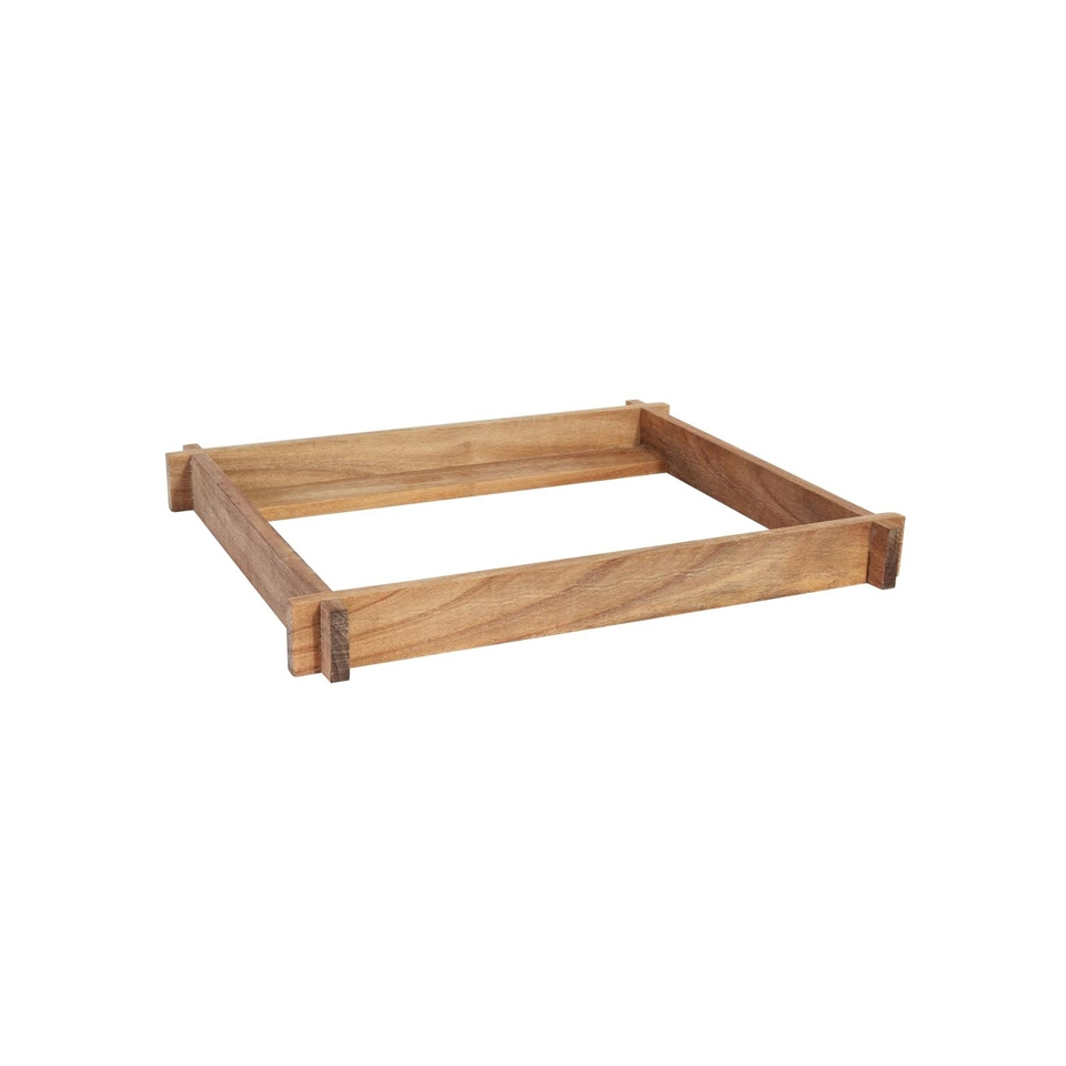 Supporto Acacia in legno cm 38x32x4