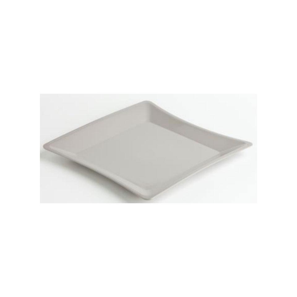 Vassoio quadro in pbt bianco cm 42x42