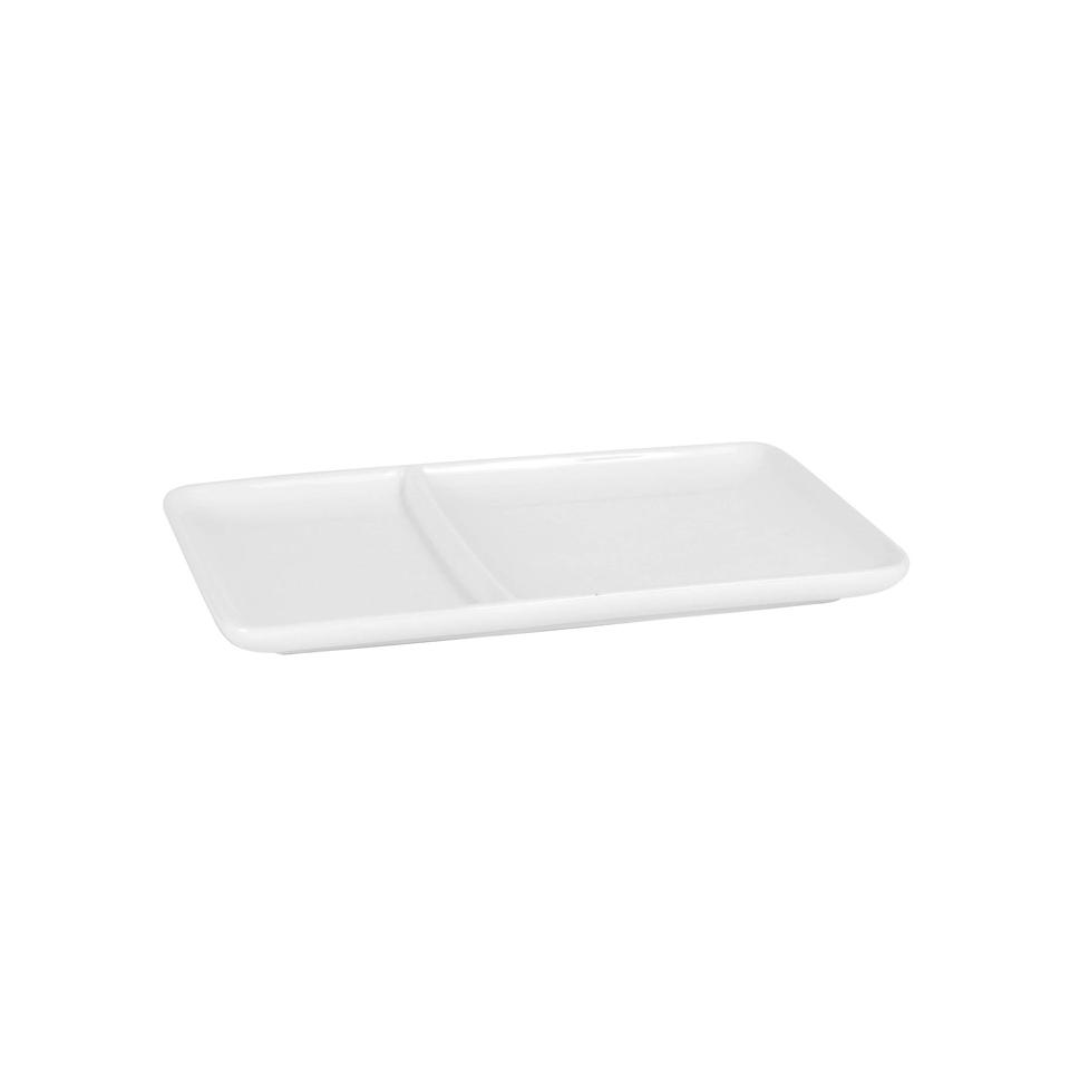 Vassoio Bandeja in porcellana bianca cm 23,5x14