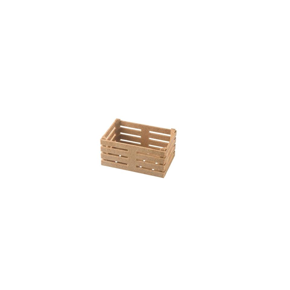 Cassetta in fibra di legno e pp cm 11x7x5