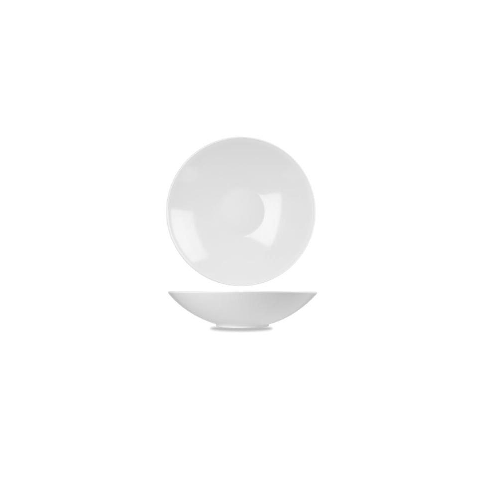 Insalatiera bowl Churchill in melamina bianca cm 37,5