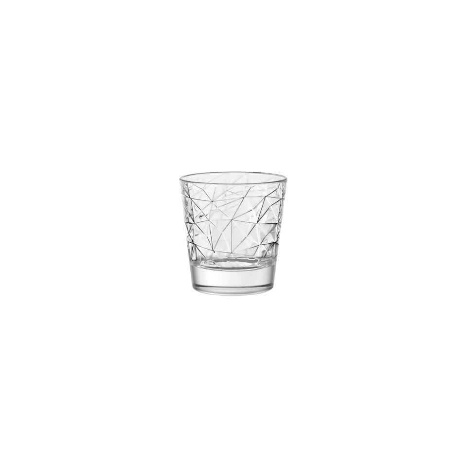 Bicchiere Dolomiti VIDIVI in vetro lavorato