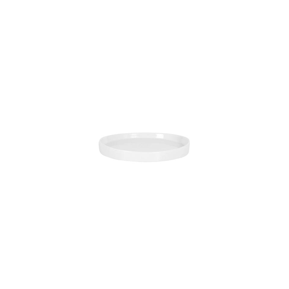 Vassoio tondo in porcellana bianca