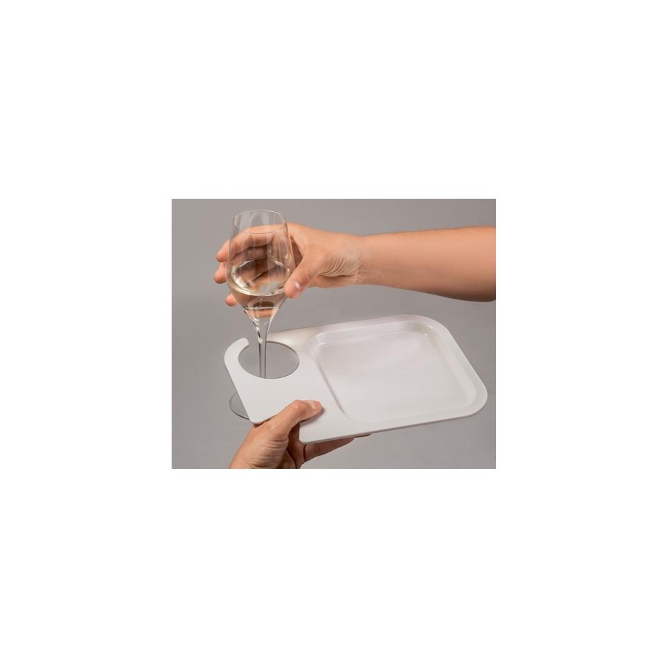 Vassoio Prestige In Pè in policarbonato bianco cm 25x17