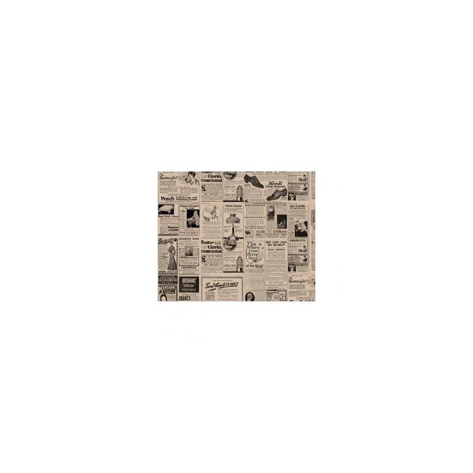 Fogli alimentari con decoro Time in carta marrone cm 28x34