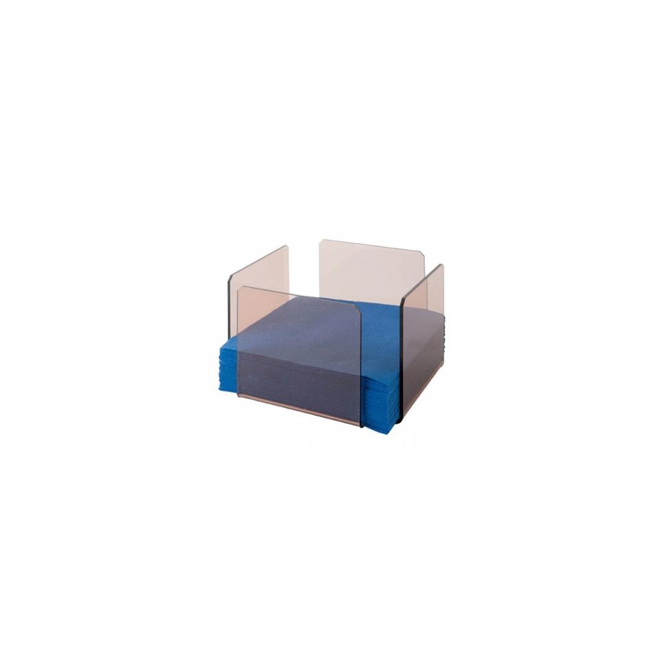 Porta tovaglioli in plastica grigio fumo cm 11x11x10,8
