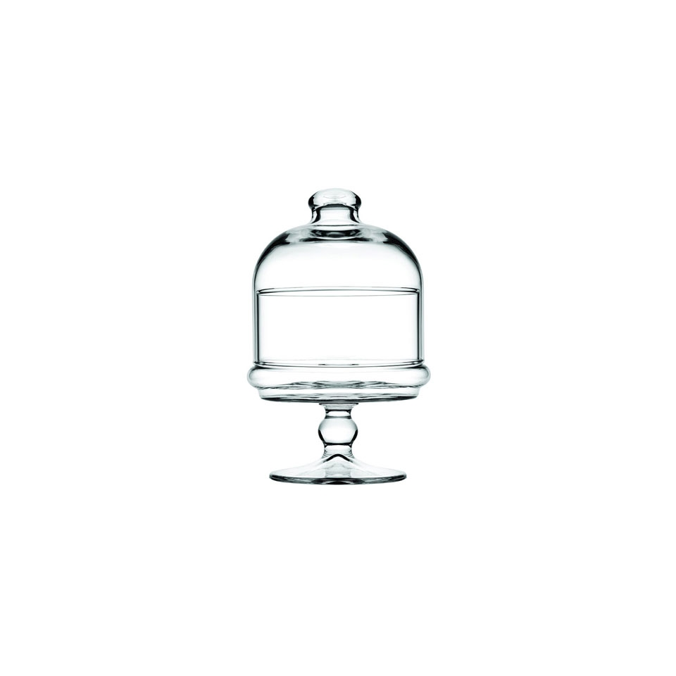Mini alzata Patisserie Potiche Pasabahce con cupola in vetro cm 10x18,5