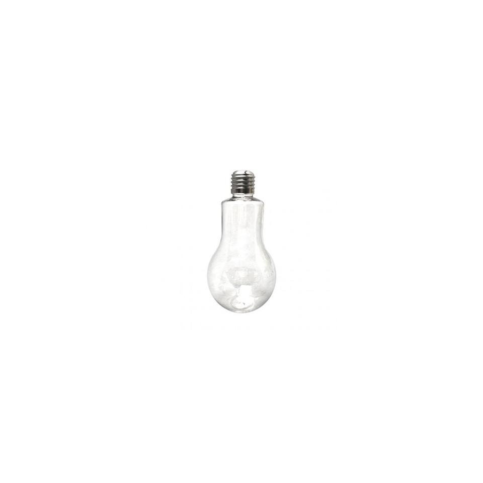 Bicchiere lampadina con tappo forato in pet cl 20