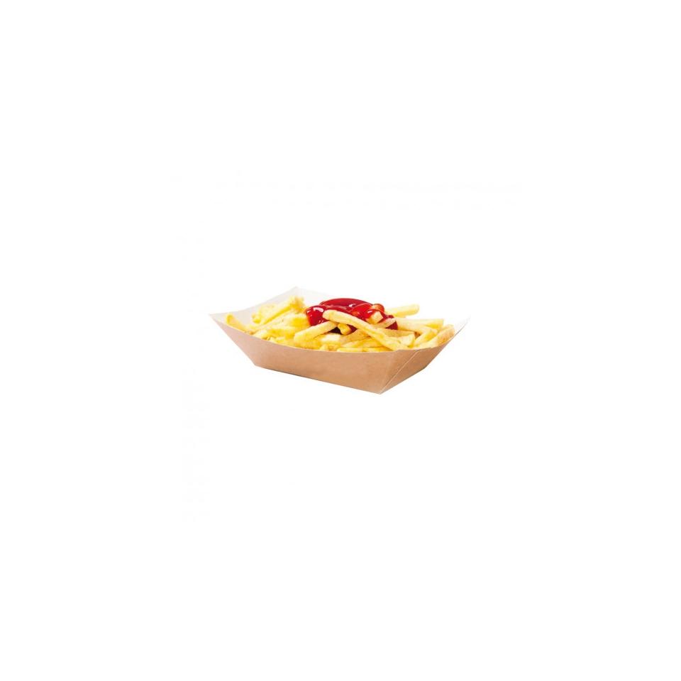 Barchette monouso in carta marrone cm 13,7x9,6x3,7