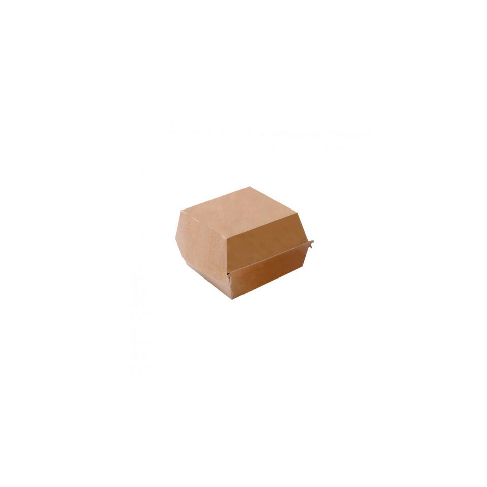 Contenitore per hamburger in cartone marrone cm 14,4x13,6x9