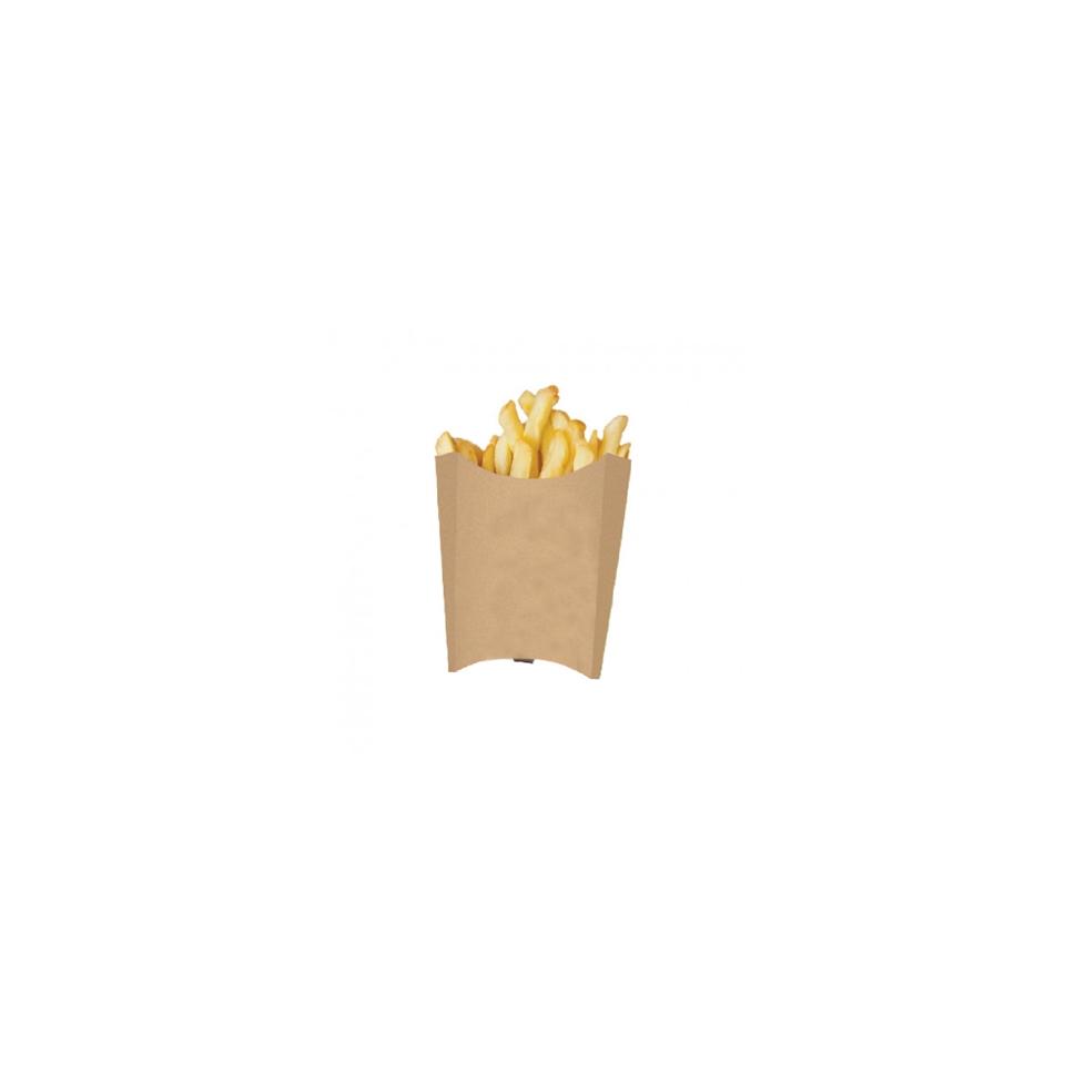 Contenitore per fritti in carta marrone cm 13x8x13,5