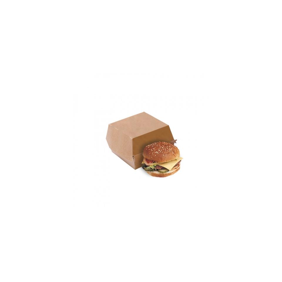 Contenitore per hamburger in cartone marrone cm 14x12,5x5