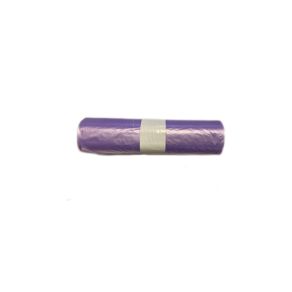 Rotolo 20 sacchi monouso in ldpe viola trasparente cm 70x110 lt 110