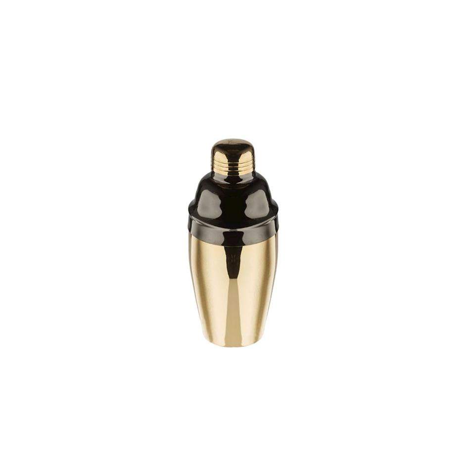 Shaker cobbler Beecolor in acciaio inox oro e nero cl 55