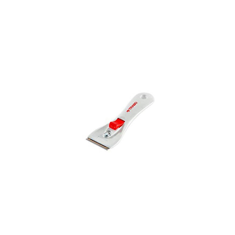 Raschietto per piani a induzione in acciaio e plastica rossa cm 14,5
