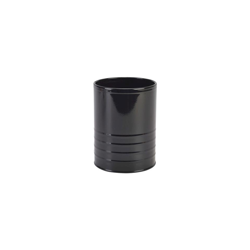 Maxi barattolo in latta nera lt 1,29 cm 11x14,5