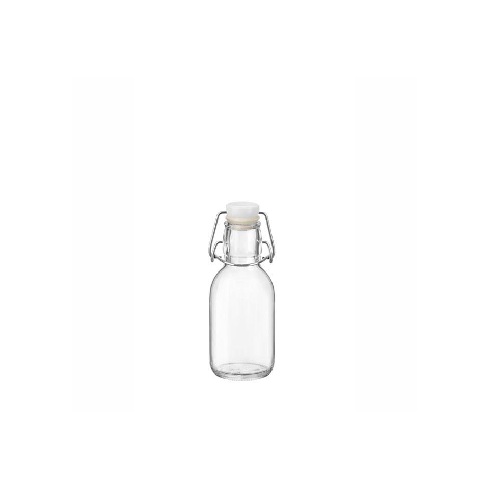 Bottiglia Emilia Bormioli Rocco con tappo ermetico in vetro