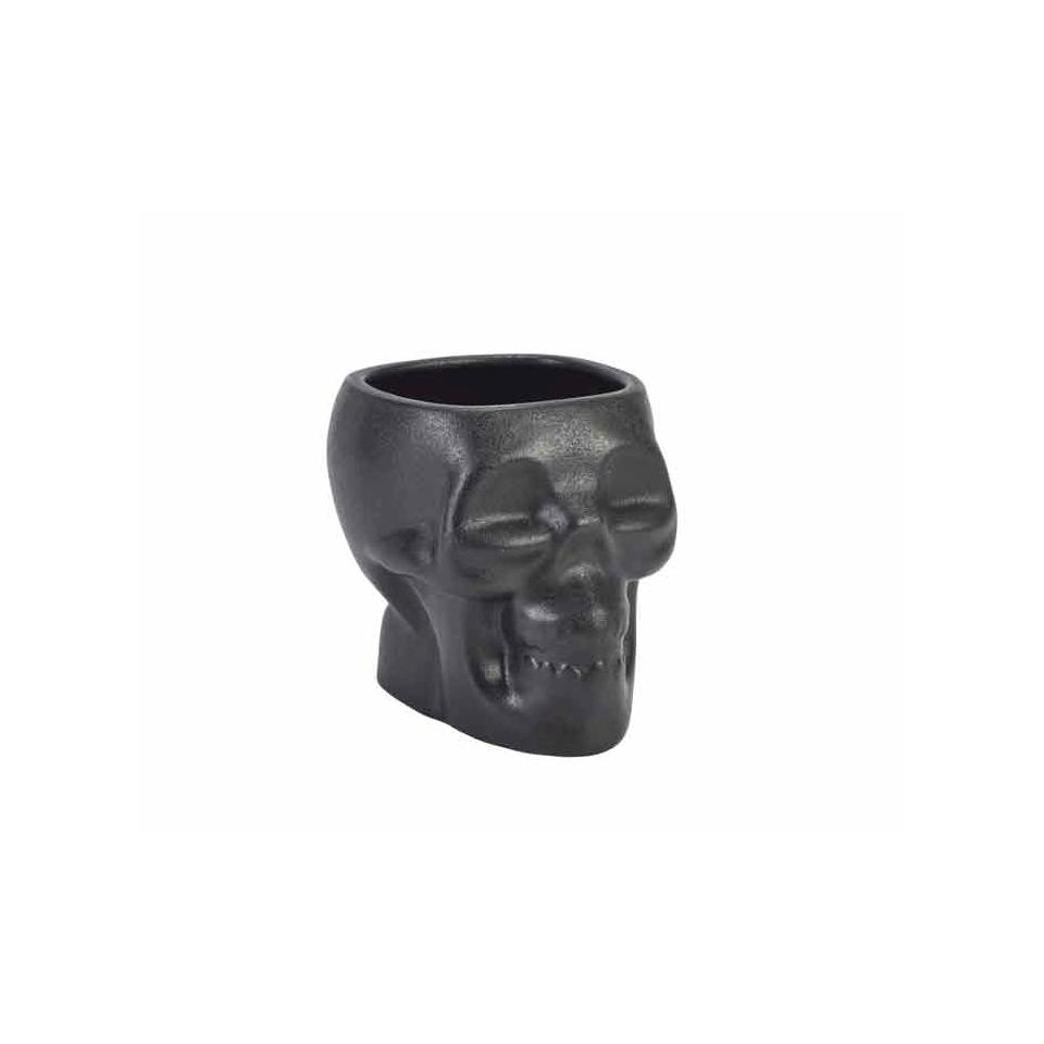 Tiki Mug Teschio in ceramica nera cl 80
