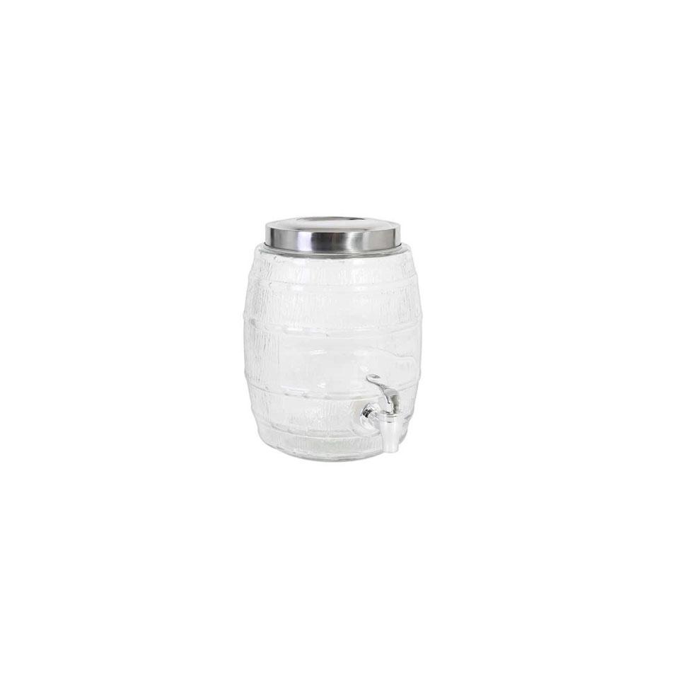 Vaso ermetico Punch Barrel con rubinetto in vetro lt 5