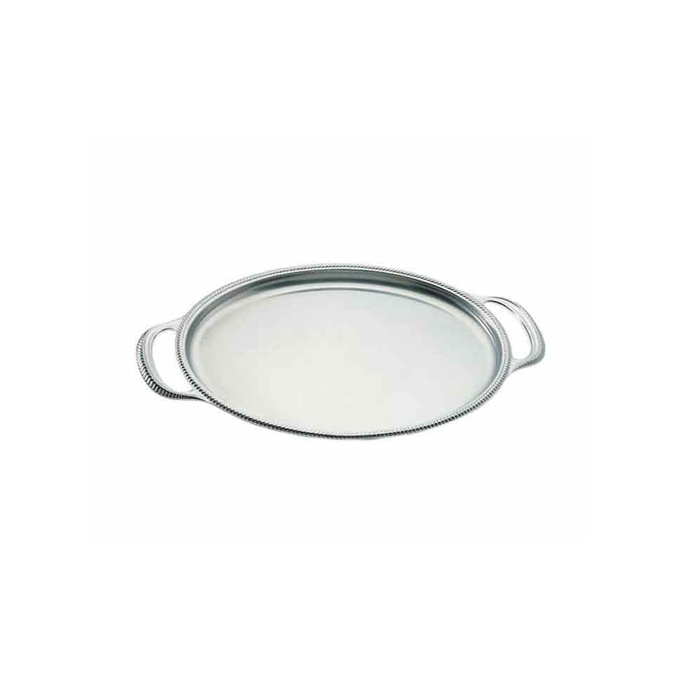 Vassoio ovale San Marco Motta in acciaio inox cm 40x30