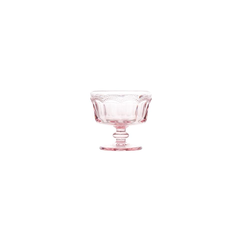 Coppa gelato Lace in vetro rosa cl 18,5