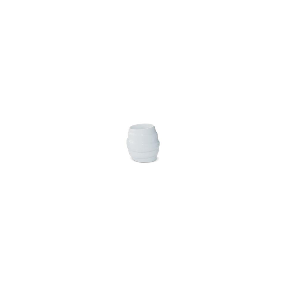 Coppetta spirale Miniature in porcellana bianca cm 4,5x6,5
