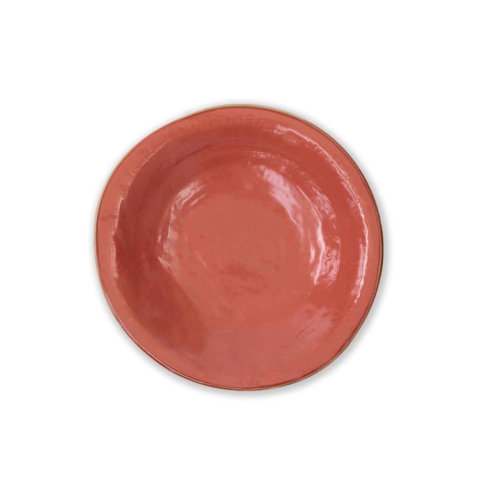 Piatto fondo Mediterraneo in ceramica arancio