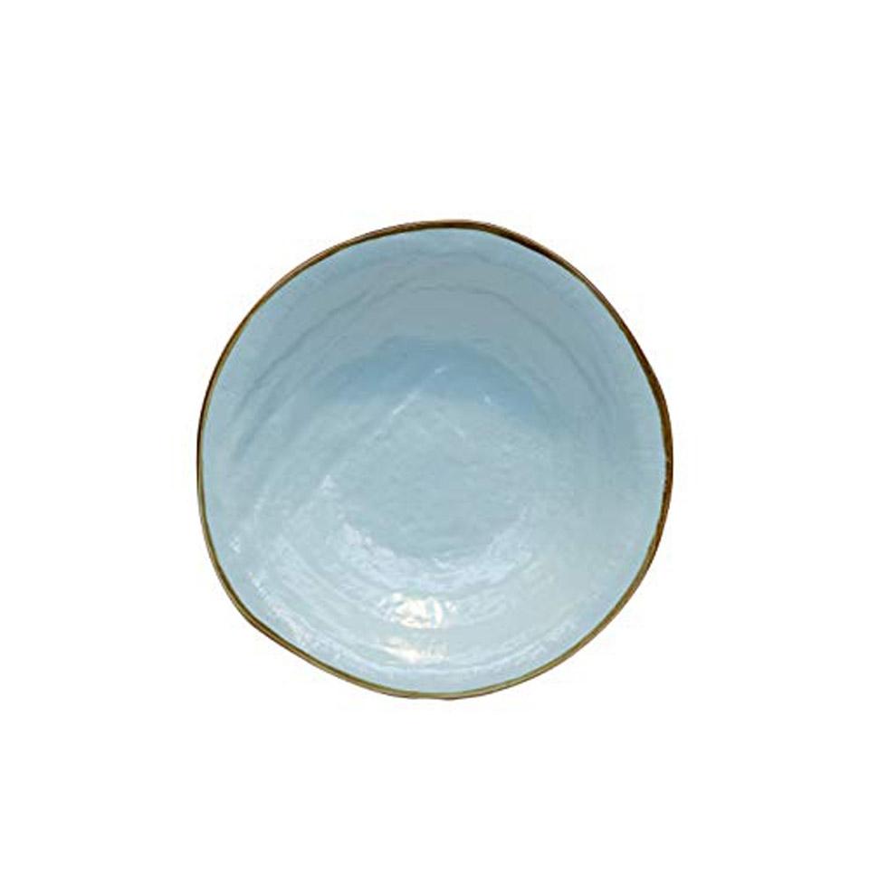 Piatto fondo Mediterraneo in ceramica turchese