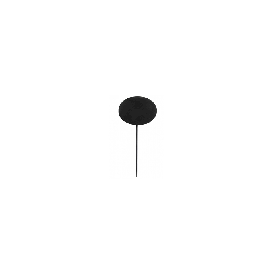 Stecconi lavagna ovali in bamboo nero cm 18