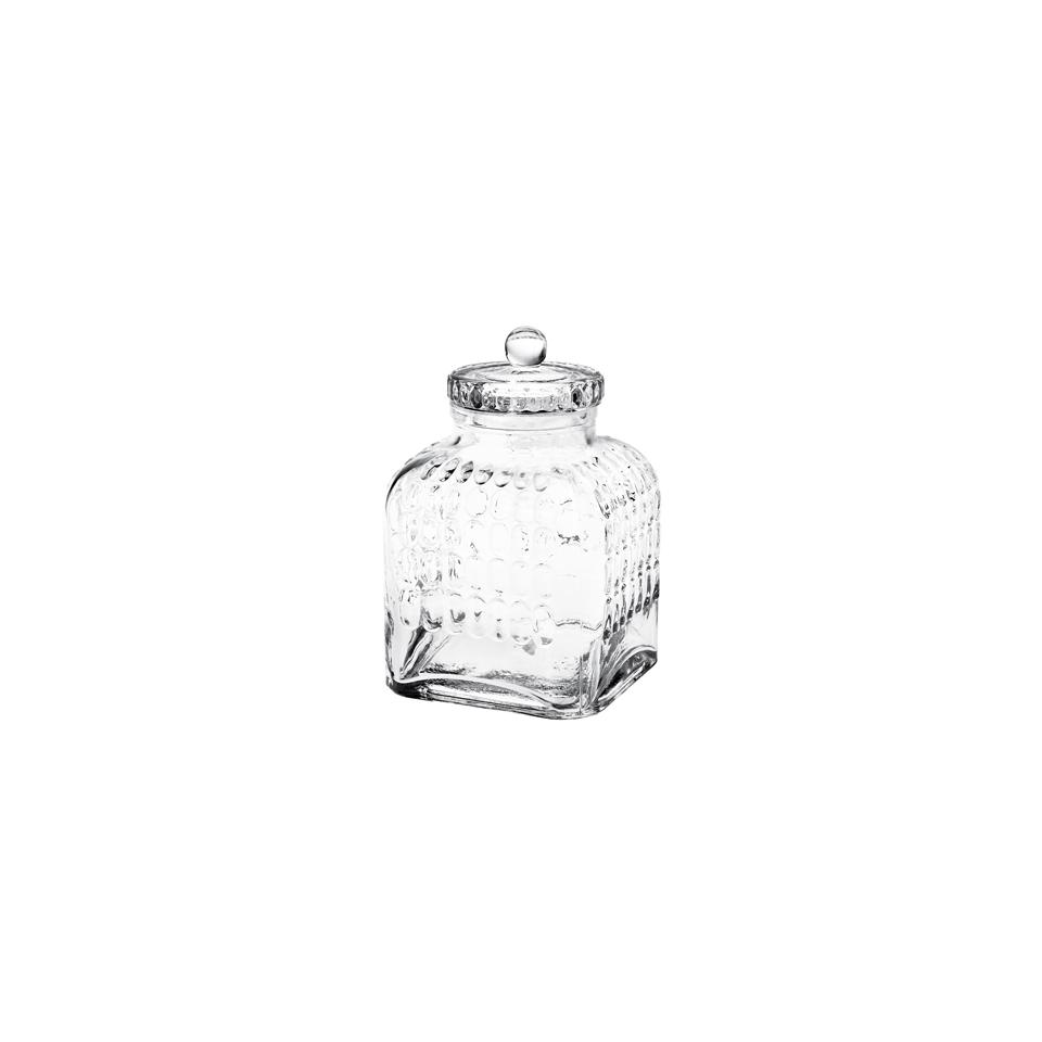 Barattolo Bon Bon con coperchio in vetro soffiato