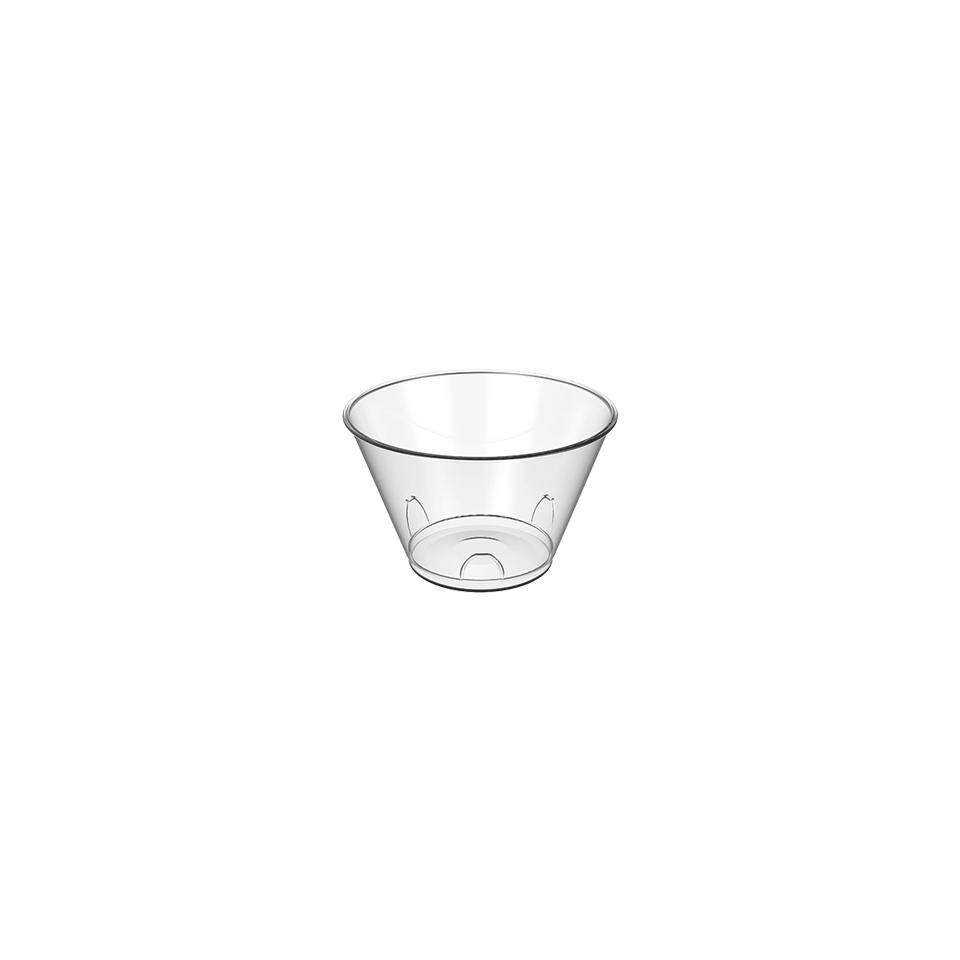 Coppetta Tulipano monouso in plastica trasparente cl 15