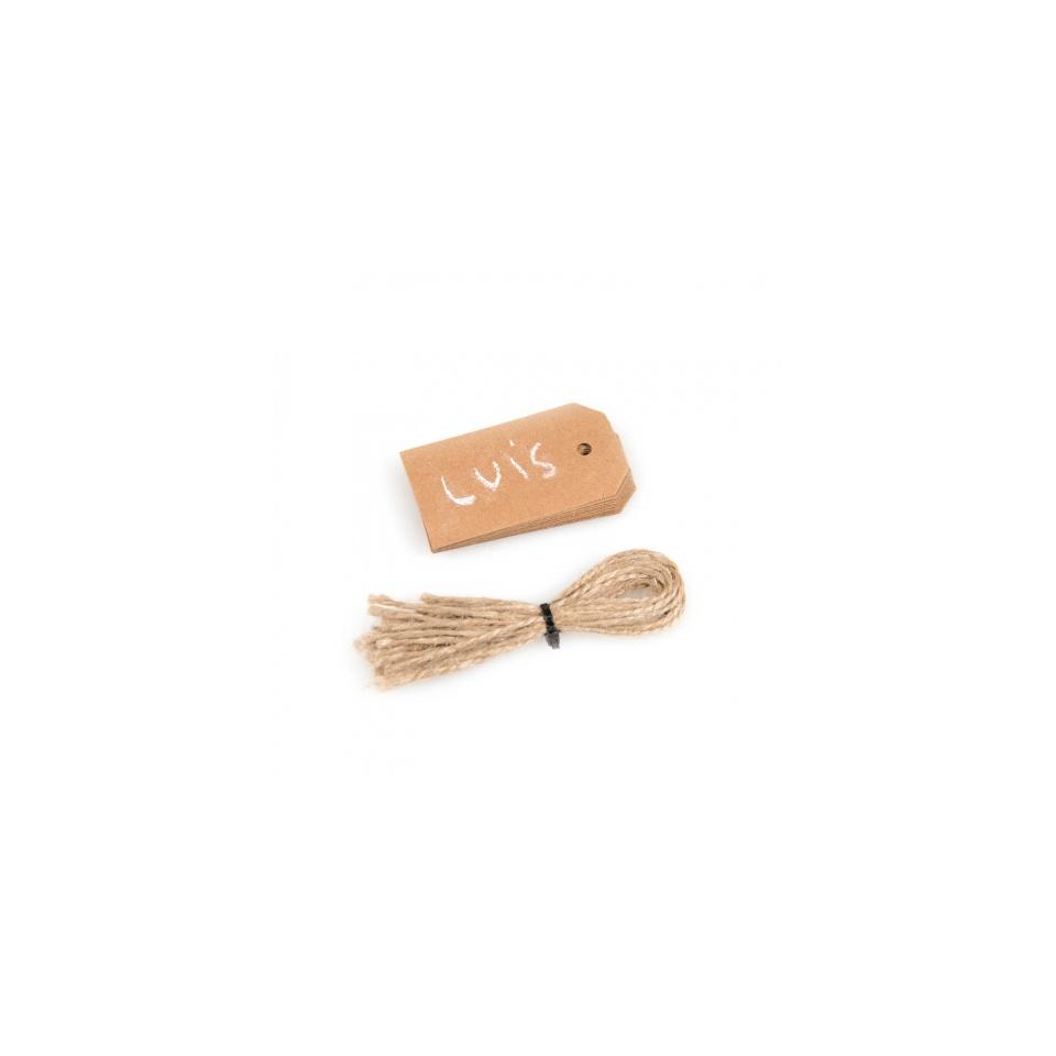 Etichette lavagna in carta marrone cm 7x3,9