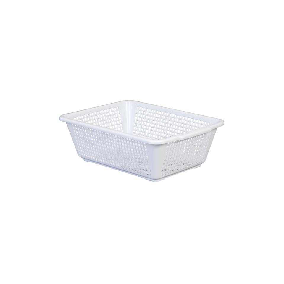 Cestello forato Araven in polipropilene bianco cm 13x40x29,8