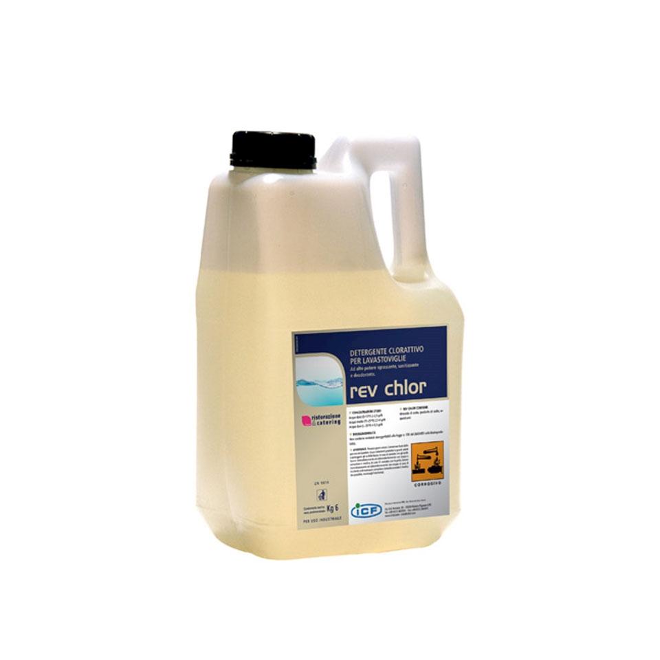 Detergente clorattivo per macchine lavastoviglie Rev Chlor kg 6