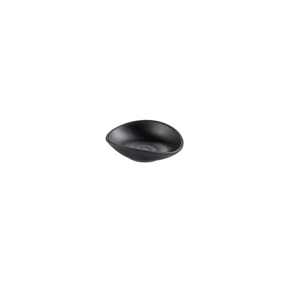 Coppetta Perle in melamina nera cm 13x11x3,5